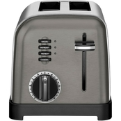 2-Slice Metal Classic Toaster in Black Stainless
