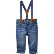 Oshkosh Knit Denim Suspender Pant Derby Wash