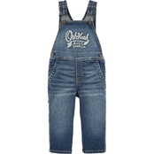 OshKosh B'gosh Infant Boys Denim Overalls Holiday Dark Wash