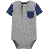 OshKosh B'gosh Infant Boys Pocket Henley Bodysuit