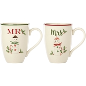 Lenox Hosting the Holidays Mr. and Mrs. Marshmallow 2 pc. Mug Set