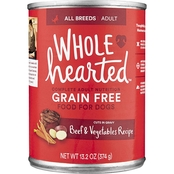 WholeHearted Grain Free Adult Beef and Vegetable Recipe Wet Dog Food, 13.2 oz.