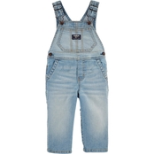 OshKosh B'gosh Infant Boys Sun Faded Light Wash Denim Overalls