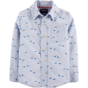 OshKosh B'gosh Toddler Boys Button Front Dinosaur Shirt