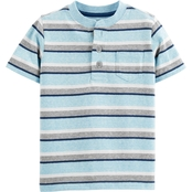 OshKosh B'gosh Toddler Boys Striped Henley Pocket Tee