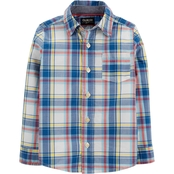 OshKosh B'gosh Toddler Boys Button Front Plaid Shirt
