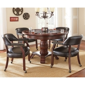 Steve Silver Tournament 5 pc. Dining and Game Table Set