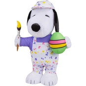 Easter Greeter-Snoopy as Painter w/Egg Peanuts