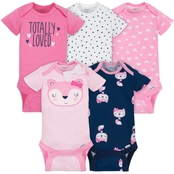 Gerber Infant Girls Pink Onesies 5 pk., Size 3-6 Months