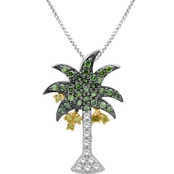 Sterling Silver 1/3 CTW Diamond Palm Tree Pendant With 18 in. Necklace
