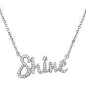 She Shines Sterling Silver 1/7 CTW Diamond Shine Necklace 18 in.