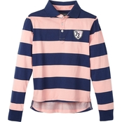 Cherokee Girls Striped Rugby Top
