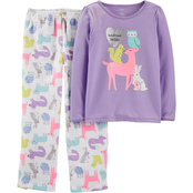 Carter's GSW 2PC Fleece GSW 2PC Purple Animals