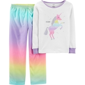 Carter's Little Girls Rainbow Unicorn 2 pc. Pajama Set