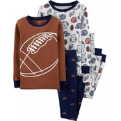 Carter's Little Boys Football 4 pc. Pajama Set