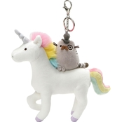 GUND Fancy Pusheen on Unicorn Keychain
