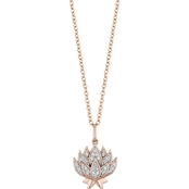 Disney Enchanted Rose Gold Over Sterling Silver 1/10 CTW Diamond Jasmine Pendant