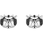 Disney Enchanted Black Rhodium Over 1/3CTW Black and White Diamond Merida Earrings