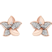 Disney Enchanted 14K Rose Gold Over Silver 1/10 CTW Diamond Rapunzel Earrings
