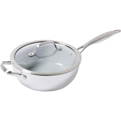 GreenPan Venice Pro 3.5QT Ceramic Non-Stick Covered Chef's Pan with Handle Helper