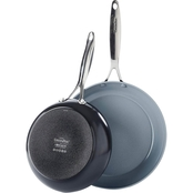 GreenPan Valencia Pro Ceramic Nonstick Open Frypan, 10 in. and 12 in, 2 pc. Set