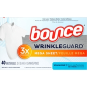 Bounce Unscented Wrinkle Guard Mega Sheets