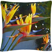 Trademark Fine Art Bird of Paradise Backlit Decorative Throw Pillow