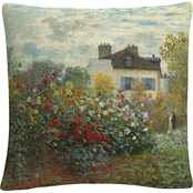 Trademark Fine Art The Artists Garden In Argenteuil Decorative Throw Pillow