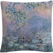 Trademark Fine Art Water Lilies Decorative Throw Pillow