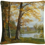 Trademark Fine Art A Quiet Lake Decorative Throw Pillow
