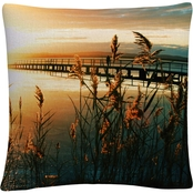 Trademark Fine Art Wish You Were Here Decorative Throw Pillow