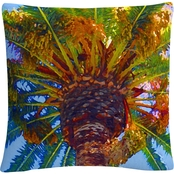 Trademark Fine Art Palm Tree Looking Up Decorative Throw Pillow
