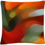 Trademark Fine Art Red Tree Light Decorative Throw Pillow