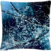 Trademark Fine Art Blue Rhapsody Decorative Throw Pillow