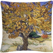 Trademark Fine Art Mulberry Tree Decorative Throw Pillow