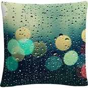 Trademark Fine Art Rainy City Decorative Throw Pillow