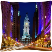 Trademark Fine Art City Hall Philadelphia Decorative Throw Pillow