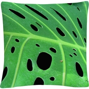 Trademark Fine Art Tropical Leaf Decorative Throw Pillow