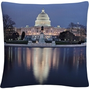 Trademark Fine Art Capitol Reflections Decorative Throw Pillow