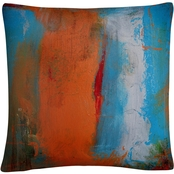Trademark Fine Art Orange Swatch Decorative Throw Pillow