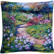 Trademark Fine Art Natures Garden Decorative Throw Pillow