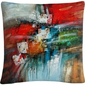 Trademark Fine Art Cube Abstract IV Decorative Throw Pillow