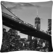 Trademark Fine Art Brooklyn Bridge 5 Decorative Throw Pillow