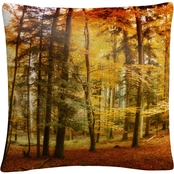 Trademark Fine Art Brilliant Fall Color Decorative Throw Pillow