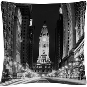 Trademark Fine Art City Hall Philadelphia Buildings Decorative Pillow