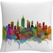 Trademark Fine Art New York City Skyline Decorative Throw Pillow