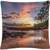 Trademark Fine Art Hawaiian Sunset Wonder Decorative Throw Pillow