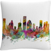 Trademark Fine Art Houston Texas Skyline Decorative Throw Pillow