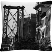 Trademark Fine Art Williamsburg Bridge Decorative Throw Pillow