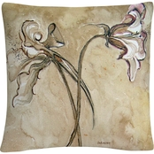 Trademark Fine Art Flower Talks Decorative Throw Pillow